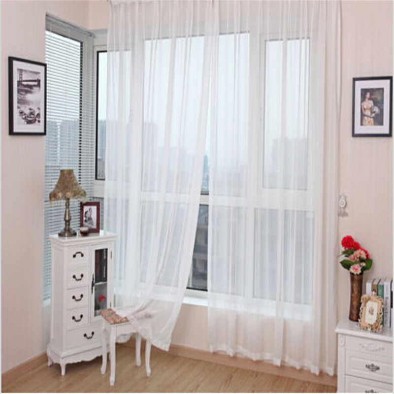 solid color chiffon curtains bedroom curtains living room pure color