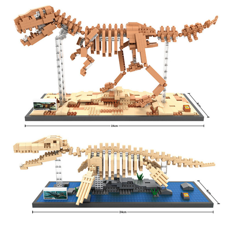 2018 740-880pcs Mosasaurus Tyrannosaurus Rex Dinosaur Model Building Blocks Kits Educational Toys for Adult Children Gift T 37 cm tyrannosaurus rex with platform dinosaur mouth can open and close classic toys for boys animal model without retail box