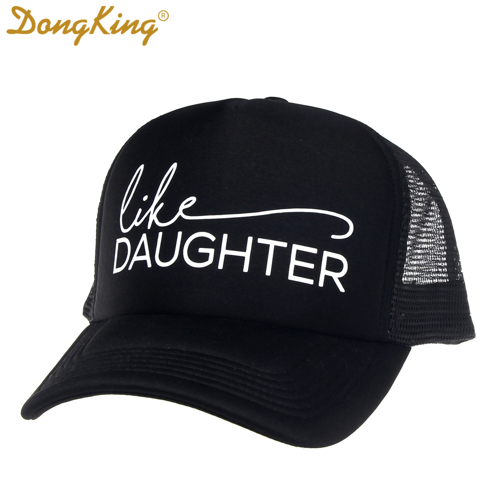 b423652f01e83 DongKing Trucker Hat Like Mother Print Like Daughter Hat Set Mommy and Me  Hats Mama Cap Baby Child Kids Trucker Family Gift-in Baseball Caps from  Apparel ...