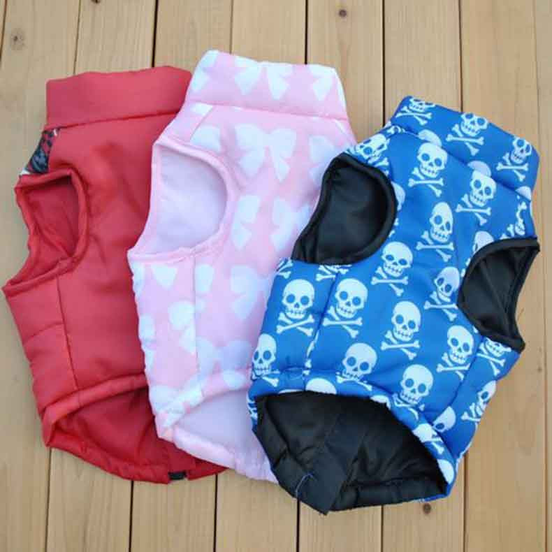 Popular Color Blocking Pet Apparel Dog Clothes Winter Puppy Dogs Vest Cotton-padded Jacket Coat for Chihuahua Teddy Poodle15