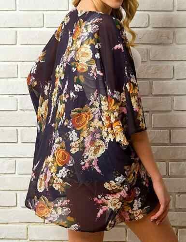 13 farben Heißer Sommer Frauen Floral Kimono Schwimmen Abdeckung-Ups Weibliche Strand Boho Strickjacke Bade Tops Strand Bikini Abdeckung up Outfits