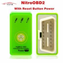 Potenciador Prog para coches de bencina, generación de Nitro OBD2 con botón de Reinicio, más potencia y torsión que la afinación NitroOBD2, Envío Gratis