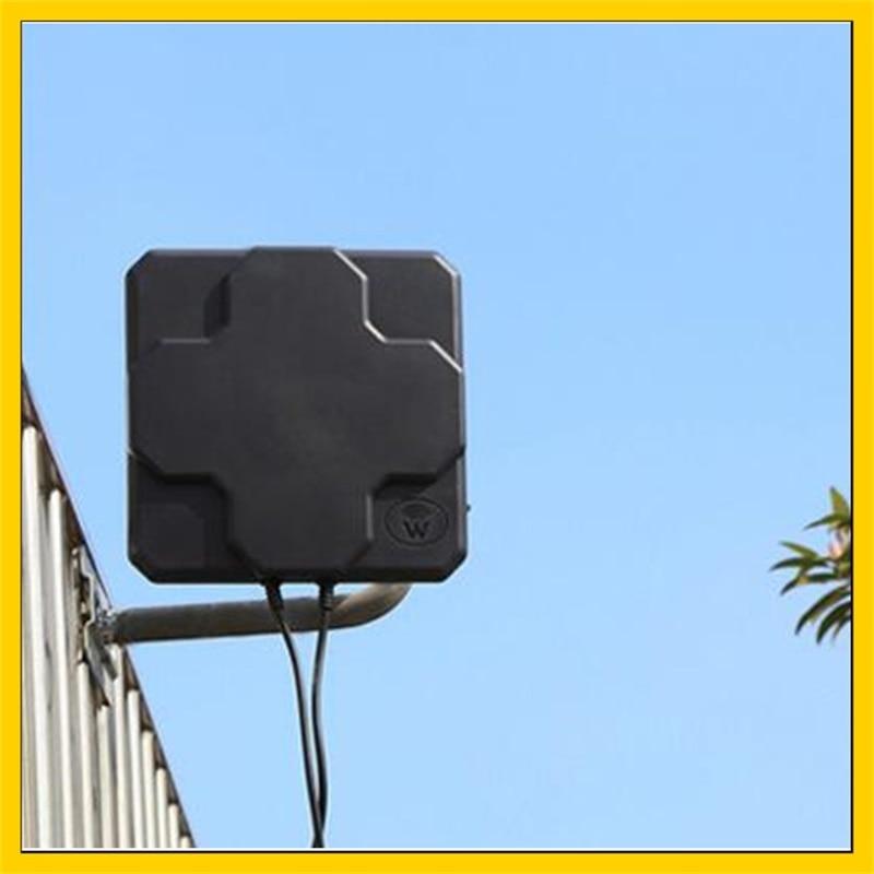Panneau d'antenne extérieur 4G 2 * 22dbi 4G LTE antenne externe directionnelle MIMO 10 câble N connecteur mâle pour routeur 4g