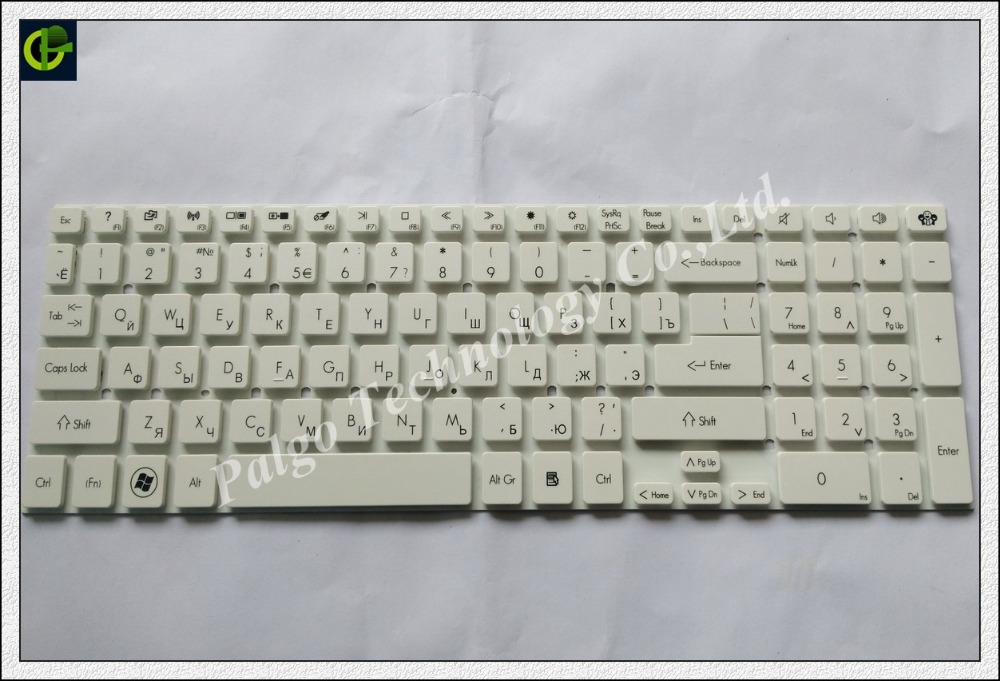 Russian RU Keyboard for 10K23TW-6981 MP-10K23U4-6981 MP-10K23US-6981 MP-10K26A0-6981 MP-10K26B0-6981 0KN0-7N1RU11 white laptop keyboard for clevo p650 mp 13h86tqj430b 6 80 p6500 251 1 mp 13h86n0j430b mp 13h86i0j430b mp 13h86p0j430b 6 80 p6500 151 1