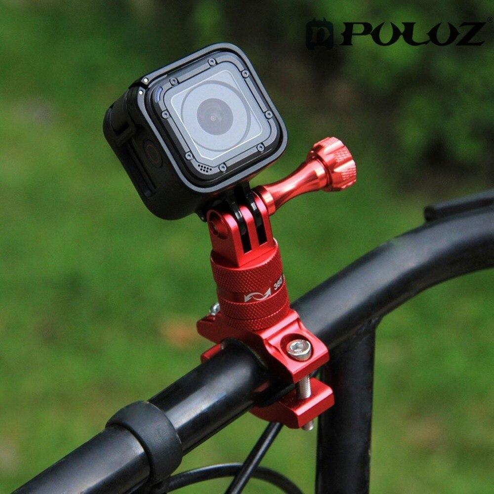 PULUZ 360 Degrés De Rotation De Vélos Adaptateur Montage En Alliage D'aluminium Guidon Avec vis Pour GoPro HERO 6 5 Session 5 4 Session 4 3 +