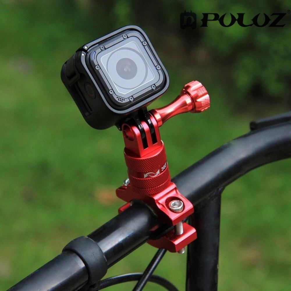 PULUZ 360 Degree Rotation Bicycle Adapter Mount Manillar de aleación - Cámara y foto