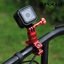 PULUZ 360 درجة دوران دراجة محول جبل سبائك الألومنيوم المقود مع برغي لملحقات الكاميرا من GoPro الرياضة