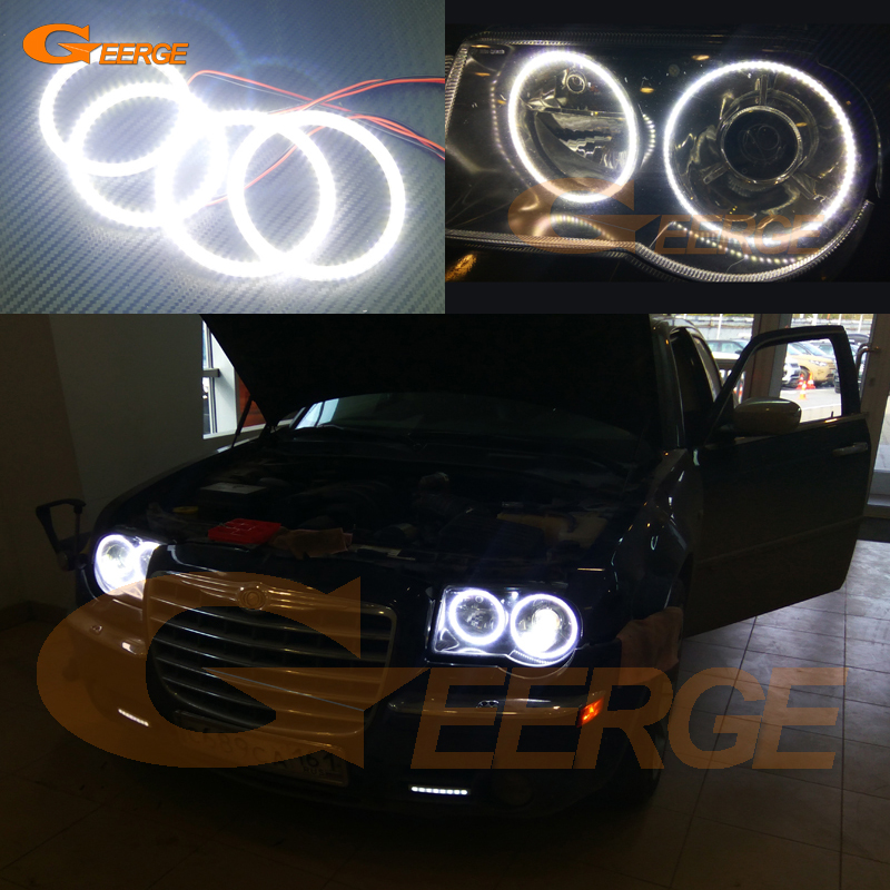 For Chrysler 300C 2004 2005 2008 2009 2010 Excellent 4 pcs smd led angel eyes Ultrabright illumination Angel Eyes Halo Ring kit