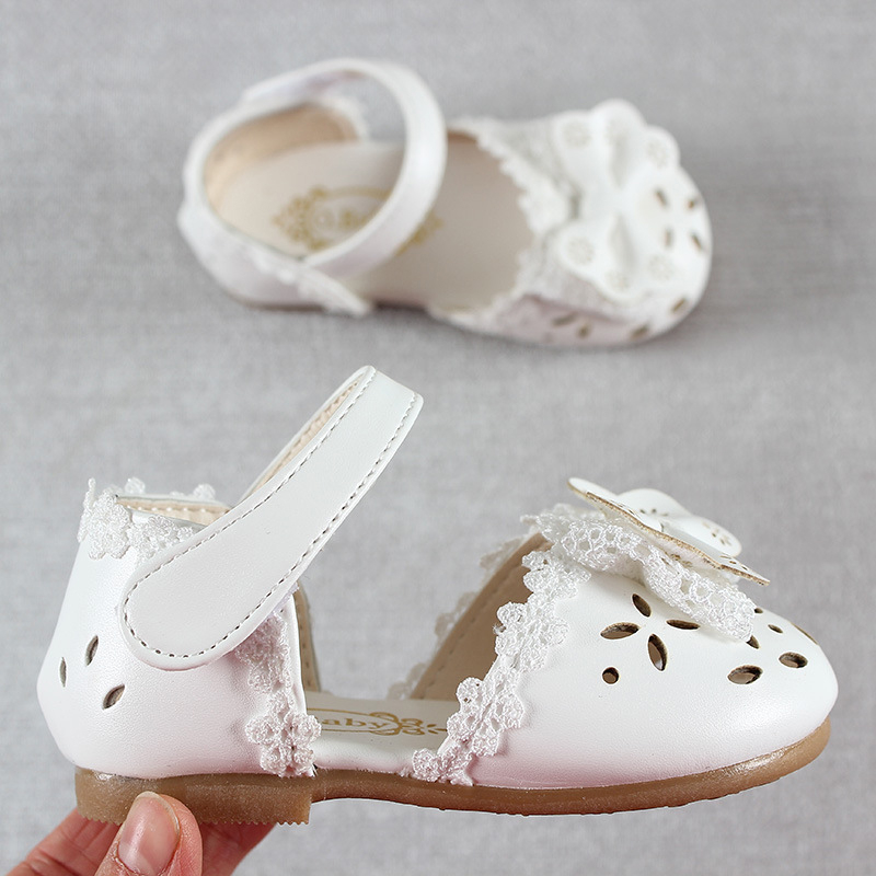 Newest Summer Kids Shoes 2020 Fashion Leathers Sweet Children Sandals For Girls Toddler Baby Breathable Hoolow Out Bow Shoes 4