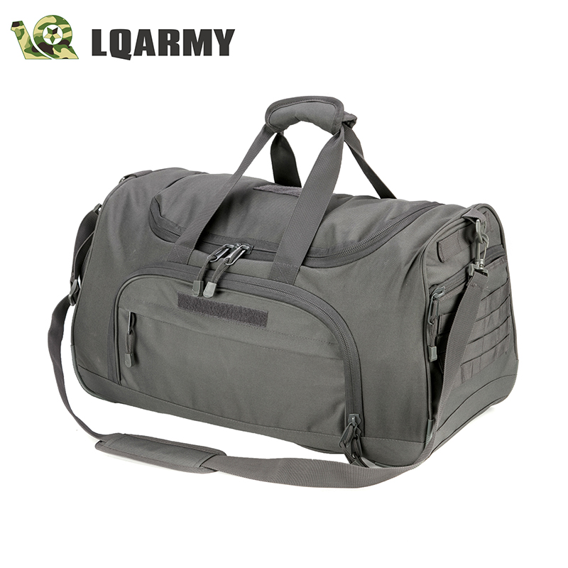 LQARMY 68.6L Military Large Duffel Bag Shoulder bag Handbag Dual-use Package for Fitness, Swim and Travel (Grey)