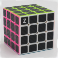 Brand New Zcube 4x4x4 Speed Magic Cubes Puzzle Game Cube Toy Educational Toys for Children Kids - Carbon Fiber Sticker