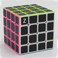 Brand New Zcube 4x4x4 Velocidade Magic Cubes Puzzle Game Cube Brinquedos Educativos Brinquedo para Crianças Crianças-a Fibra De carbono Adesivo