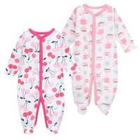 Pijama de verano para recién nacidos, ropa de dormir de manga larga, traje para bebé, 2 paquetes