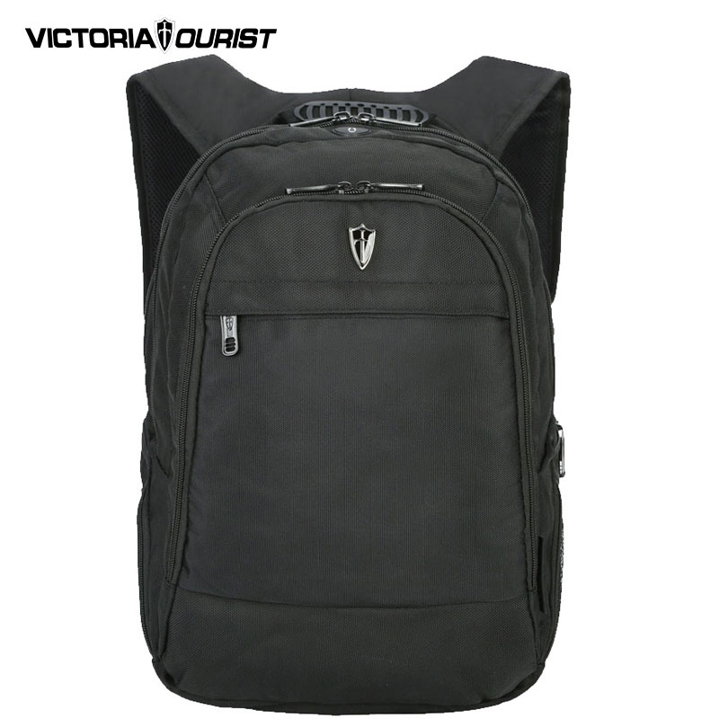 VICTORIATOURIST 15.6 inch laptop backpack men/ men backpack with raincup and rain cover/computer back pack for men/ V6014 black