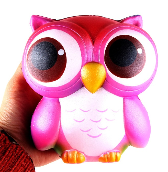Squishy owl animal Squishys Cake Stress Reliever Slime toys Scented Squeeze Slow Rising Fun Toy  Antistress  Cure Gift squeezet