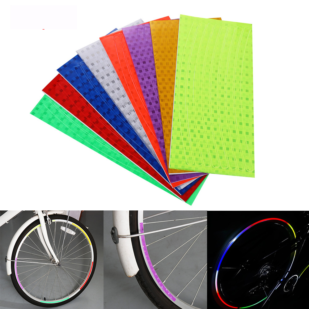 yellow Reflective Stickers Decal  Wheel Rim Bicycle Car Motorcycle