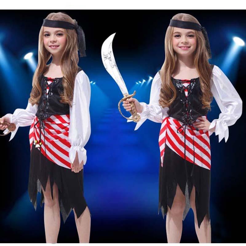 Балалар Boy Girl Pirates Cosplay костюм Fancy Dress - Костюмдер - фото 5