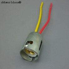 shhworldsea 1pcs  hot sale PLASTIC BA15D socket bulb holder connector
