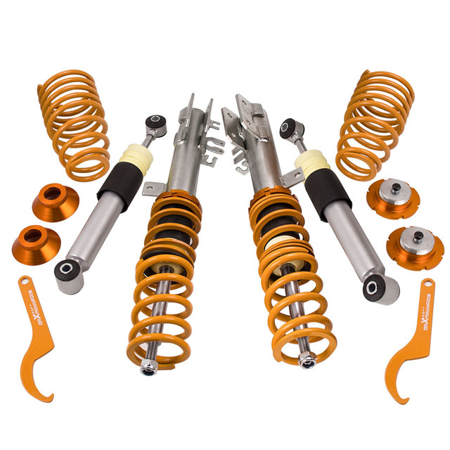 For Fiat  For Ford Ka    Adjustable Coilover Suspension Kit Inc Abarth Coilovers Lowering Coil Strut