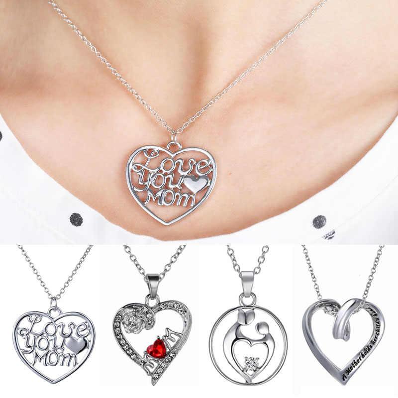 Простое дамское ожерелье кулон стразы в форме сердца модный подарок на день
