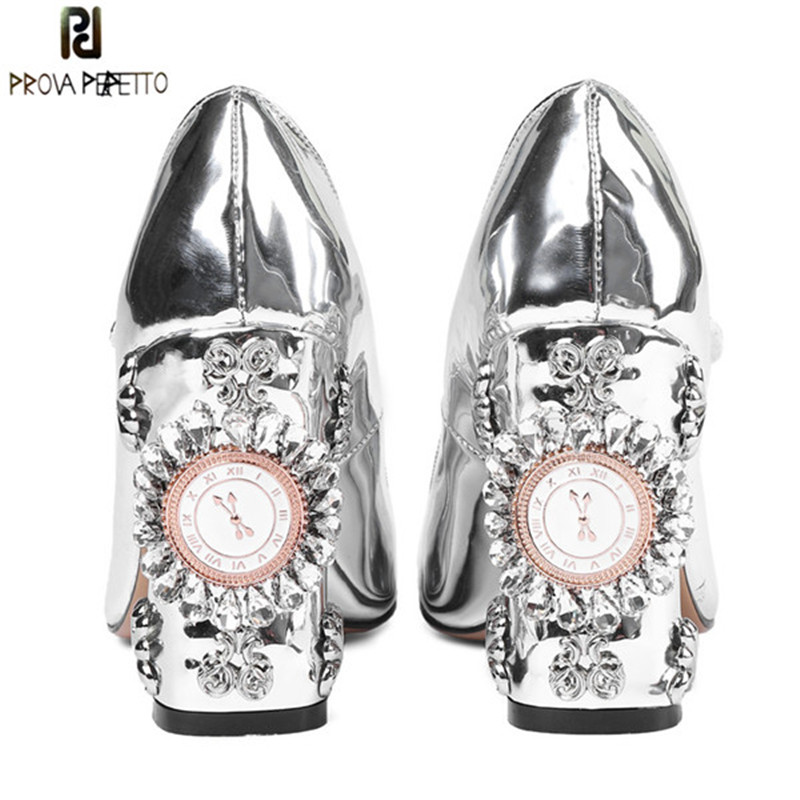Prova Perfetto New Women Pumps High Heels Rhinestone Flower Wedding Shoes Woman Sexy High Heels Party Shoes Sweet Princess Shoes shoes women high heels sexy wedges platforms glitter diamond shoes wedding shoes rhinestone heels party shoes pumps