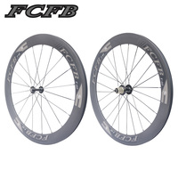 2017 new FCFB Road Bike Carbon Wheels Fastace RA209 700C 60mm depth Clincher 3K matt Carbon Bicycle Wheelset FREE SHIPPIN