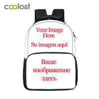 Customize Your Image Logo Backpack for Teenage Boys Skull School Backpack Magic Wolf Women Men Travel Bags Schoolbag for Girls