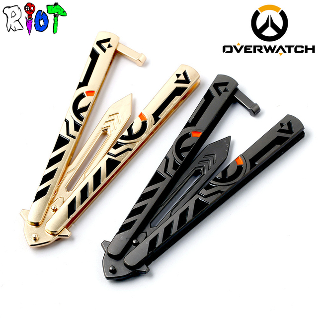 21cm OW Weapon Model Sword handwork alloy Pendant Swing knife Training Tools No edge Butterfly Knives Folded flail knife Gift