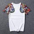 Summer Novedad Boy Chándal Camiseta de Algodón Tops Camisetas de Moda Impresión en Blanco y negro Los Hombres Yeezy Manga Corta Camiseta 5XL Chino estilo