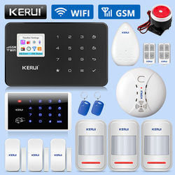KERUI W18 WIFI GSM sistema de alarma de seguridad antirrobo SMS APP Control hogar DIY PIR detector de movimiento Detector de puerta detector de alarma kit de