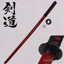 Red Wooden Sword Samurai  Bokken Practice Kendo Stick Bushido Katana
