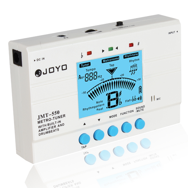 JOYO LCD Screen Digital Guitar Metro Tuner Metronome Guitar Parts Accessories Built-in Amplifier Speaker and Drumbeats freight free drums and guitar general rhythm marker piano electronic metronome general instrument rhythm auxiliary parts