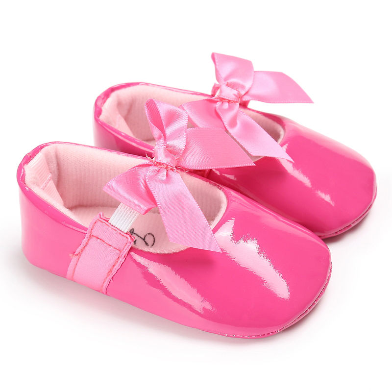 WONBO-Newborn-Baby-Girls-Princess-Shoes-Crib-Bebe-Infant-Toddler-Kids-First-Walkers-Patent-leather-Mary-Jane-Big-Bow-Solid-Shoe-5