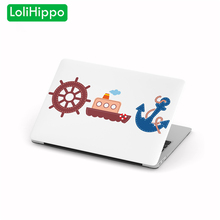 LoliHippo Anchor Series Laptop Protective Case Cover for Apple Macbook Air Pro 11 12 13 15 Inch Notebook Cover for A1465 A1398