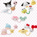 Kurami Hello Kitty My Melody Grandes Orejas Perro Cinnamoroll Yema de Huevo Perro Del pudín de Doble Círculo Del Pelo Para Las Niñas Los Niños el Mejor Regalo Del Amante