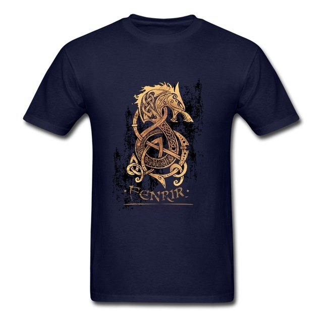 Vikings Berserk T Shirt Fashion 2019 Resilient Cotton 3XL Short Sleeve The Monster Wolf of Norse Mythology T Shirts 3
