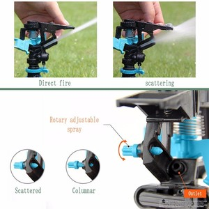 Image 5 - Garden Sprinklers Automatic watering Grass Lawn 360 Degree Rotating Water Sprinkler 3 Nozzles with Pipe Hose Irrigation System