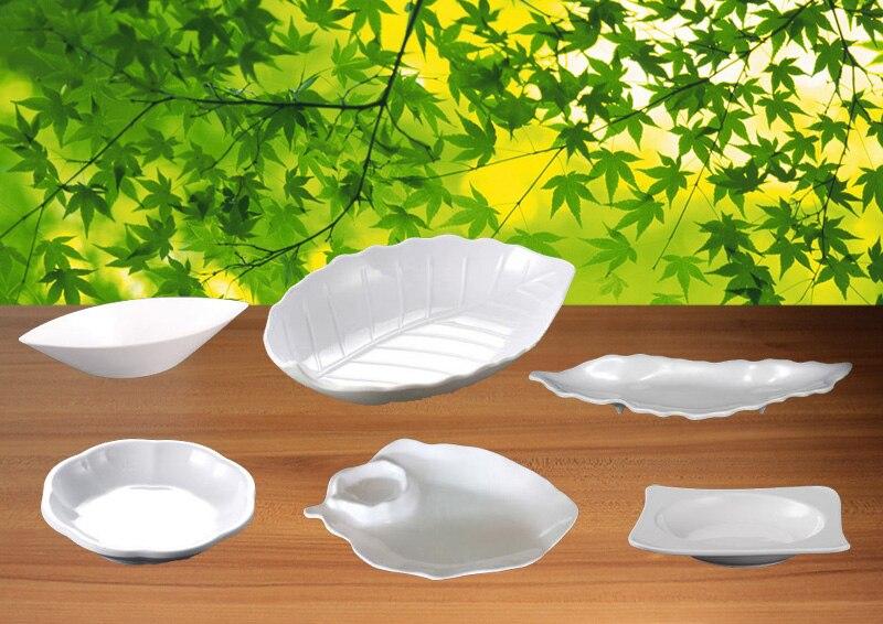 Melamin Geschirr Teller Blatt Geformte Platte Westlichen Restaurant Sashimi  Gericht A5 Melamin Geschirr Melamin Geschirr(