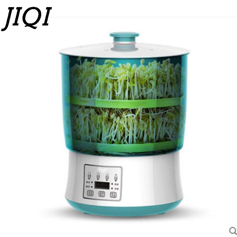JIQI Digital Intelligent Bean Sprouts Machine Thermostat Green Seeds Growing Automatic yogurt maker rice wine natto fermenter household automatic multi bean sprout machine rice wine yogurt maker machine large capacity thermostat seeds growing machine