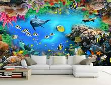 london bedroom wallpaper 3d Underwater World mural Living room Sofa TV Backdrop 3 d wallpaper for walls(China)