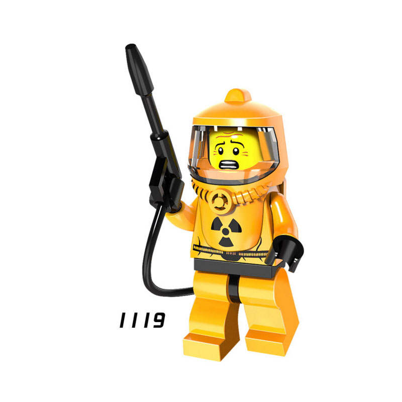 Single Sale Super Hero Star Wars 1119 Nuclear Worker Mini Building Blocks Figure Bricks Toys Kids Gift Compatible Legoed Ninjaed