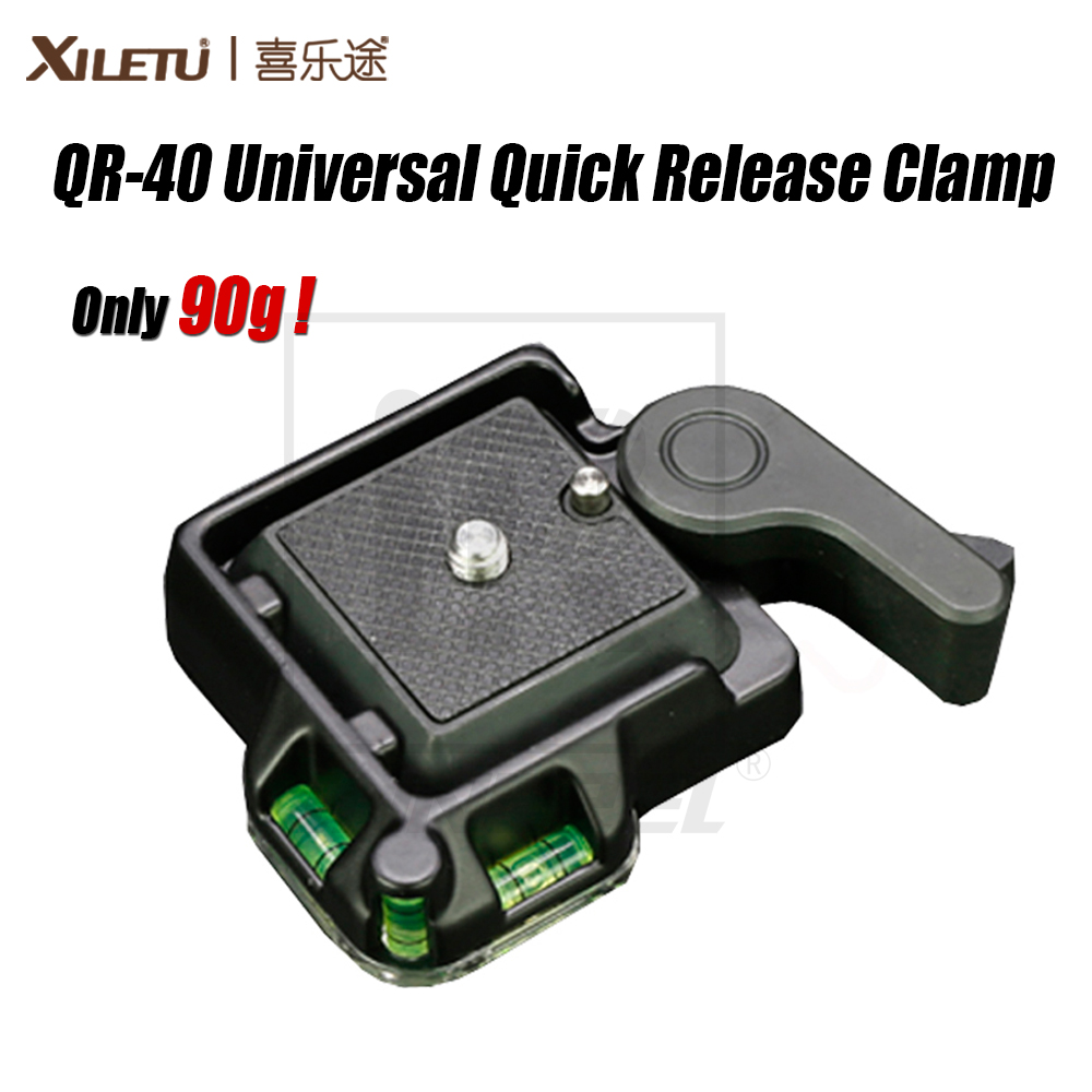 XILETU High Quality QR-40 Universal Aluminium Alloy Quick Release Clamp Q.R. Adapter Plate Tripod DSLR Photography Accessory цена