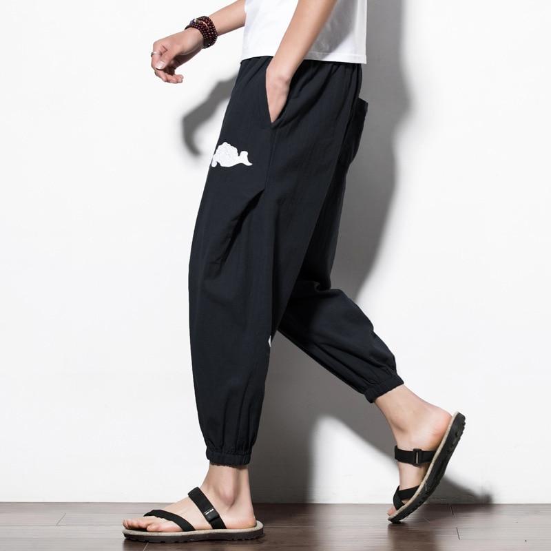 M-5XL hommes harem yoga pantalon lâche jambe large pantalons de survêtement bloomers homme course survêtement fitness entraînement sueur sport pantalon vêtements de sport