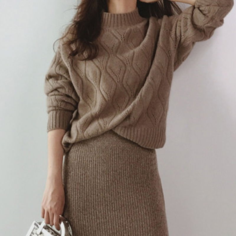 Half Turtleneck Sweater Hollow-out Woman Cashmere Sweater Long Sleeve Pullover Cashmere Sweater Spring Pullover High Quality