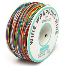 1pc New 30 AWG Wrapping Wire 0.25mm Tin Plated Copper 8-Colored Wire Wrap Insulation Test Cable For Motherboard LCD Display недорого