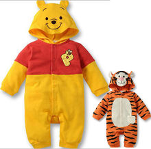 Wholesale Spring Fall Winter Cute Cartoon Rompers Hooded Outwear Newborn Baby Girls Boys clothes Outfits One Pieces 3-12M