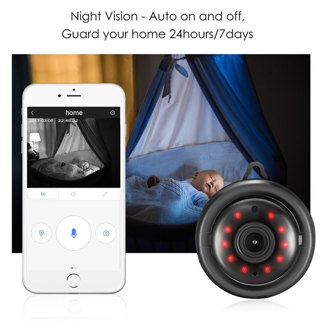 DIGOO DG-MYQ 2.1mm Lens 720P  Wireless Mini WIFI Night Vision Smart Home Security IP Camera Onvif Monitor Baby Monitor 5