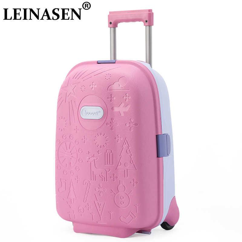 Crianças mala de viagem bagagem girador mala para crianças trolley bagagem rolando mala para meninas rodas mala trolley sacos