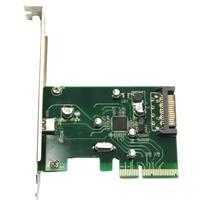 Desktop PCI Express x4 to Single USB3.1 Type C Converter Adapter 10Gbps USB 3.1 Type C port PCIe Controller Card