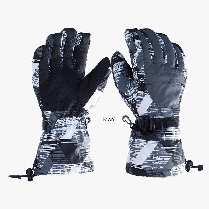 2017 nuevos hombres de invierno de esquí guantes Snowboard Snowmobile de La Moto